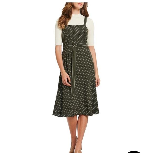 6164378cc4 Antonio Melani Axel Belted Striped Midi Dress